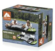 Ozark Trail Rapid Rider Ii 2 Inflatable 2 Person Water Raft W/ Cooler And Cup Hold