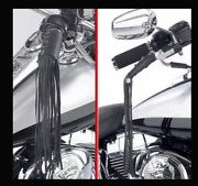 Fringe Leather For Handles And Brake Black Custom Motorcycle Lace Straps