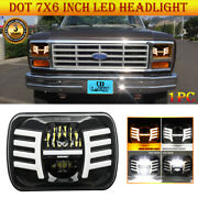 2021 New 90w Dot 7x6 Projector Led Headlight With Angel Wings Drl For Ford Truck