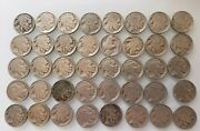 Lot Of 40 Old Buffalo Nickel Coins - Full Roll Of Dated Nice Coins