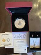 2 Oz. Pure Silver Coin - Canadian Maple Leaf Brooch Legacy - Mintage 3,000 -2020