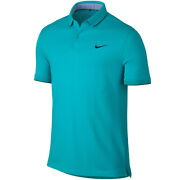 New Nike Tr Dry Washed Golf Polo Omega Blue/anthracite Small