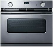 Summit 30 Wide Gas Single Wall Oven With Convection And Three Racks Sgwo30ss, New