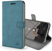 Iphone 12 Mini Leather Wallet Case Magnetic Clasp Flip Folio Cover Card Slots