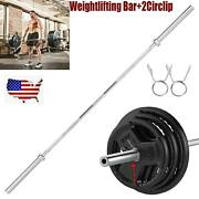 86 Olympic Barbell Lifting Bar Weight Workout Gym Bench Workout Barbell Rod Us