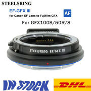 Steelsring Ef-gfx Iii Af Lens Adapter For Canon Ef To Fuji Gfx Gfx100s 50s 50r