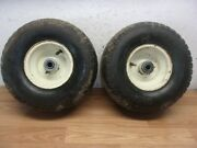 Cub Cadet 2166 Riding Mower Front Wheels / Tires 15x6.00-6 Old Wore Tires