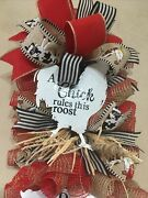Farmhouse Swag A Chicken Pig And Cow Perfect For Door Or Wall All Year Round