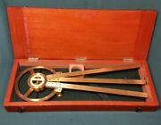 Cased British Victorian Naval Station Pointer By Sewill - Royal Navy