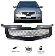 For 2005 To 2006 Nissan Altima Front Upper Grill Mesh Matte Black Grille