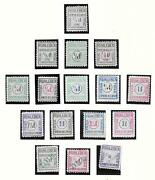 German Reich Stamps Collection Of 16 Ruhleben Stamps British Officers Camp