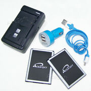 Acesoft 2x 3520mah Battery Car Charger Usb Cable F Lg Optimus F7 Us780 Cellphone
