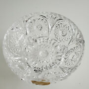Vintage Hand Cut Footed 24 Pbo Lead Crystal Glass Bowl Western Germany Fs