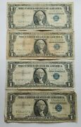 1957 Blue Seal 1 One Dollar Silver Certificate Bill-old Paper Money-lot Of 4