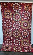 Suzani Wall Hanging Vintage Hand Embroidered Large 11 Ft X 6 Ft