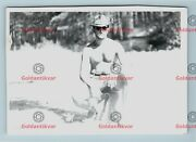 Vintage Shirtless Muscle Photograph Affectionate Heat Cowboy Man Gay Int R34