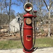 Plastic Retro Phillips 66 Old Style Gas Pump Battery Operated Clock