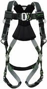 Miller Revolution Full Body Safety Harness With Quick Connectors Front D-rin...