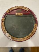 Antique Foxy Toys 1917 Rare Double Sided Spelling Chalk Board Tin Litho