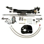 For Ford Fairlane 1957-1959 Unisteer Hydraulic Power Steering Rack And Pinion Kit
