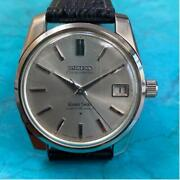 Grand Seiko 43999 Chronometer Menand039s Watch Silver Black Stainless Excellent+++