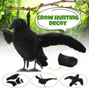Realistic Full Body Crow Raven Hunting Shootgarden Decoy Scarer Greenhand