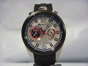 Bomberg 1968 Chronograph Date Black Rubber Strap Menand039s Watch Ns44chtt.0054.2 New