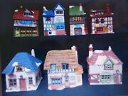 Dept 56 Dickens Village - The Original 7 Shops Of Dickens Village - All Perfect