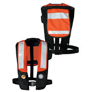 Mustang Survival Md3183t2-or/bk Mustang Deluxe Auto Inflatable Pfd W/solas Ta...