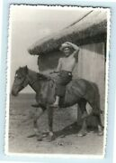 Photo Shirtless Muscle Cowboy Man On Ride Horse Gay Int R36