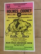 Rare 1982 Larry Holmes Vs. Gerry Cooney Boxing Poster Signed By Holmes Gtp All