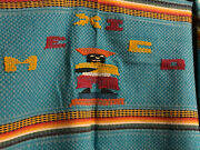 New Mexican Textile Embroidered Table Cloth With 6 Matching Napkins