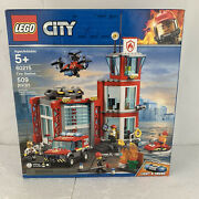 New Lego City 60215 Fire Station 509 Pcs Factory Sealed Authentic Legos