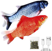Usb Moving Fish Cat Toy Realistic Interactive Dancing Wiggle Catnip Toys