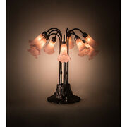 Meyda 14363 24in.h Pink Pond Lily 10 Lt Table Lamp
