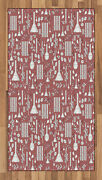 Apothecary Area Rug Flat Woven Accent Rug Home Decoration 2 Sizes Ambesonne