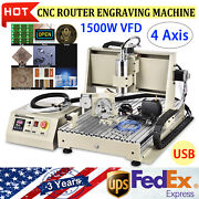 4 Axis Cnc 6040 Router Kit 3d Engraving Milling Machine 1500w Wood Pcb Engraver