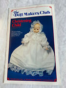 """Vintage The Doll Makers Club Sewing Kit """"christening Child"""" 1988 New/unused"""