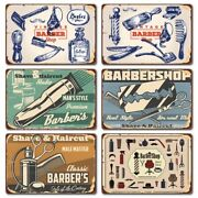 Barber Shop Rusty Metal Tin Signs Funny Cut Hair Man Cave Vintage Wall Plaques