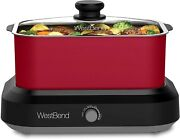 West Bend 87905r Large Capacity Non-stick Versatility Slow Cooker With 5 Differe