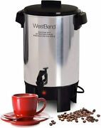 West Bend Highly Polished Aluminum Party Perk Coffee Urn Features Automatic Temp