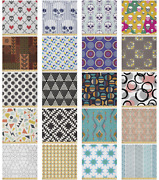 Ambesonne Geometric Microfiber Fabric By The Yard For Arts And Crafts
