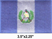 100 Pcs Guatemala Flag Embroidered Patches 3.5x2.25 Iron-on