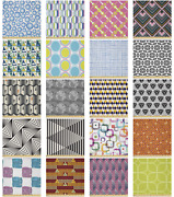 Ambesonne Geometric Themed Microfiber Fabric By The Yard For Arts And Crafts