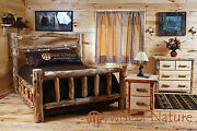 Log Bedroom Set Free Shipping King Size Bed 22 Drawer Night Stands And Dresser