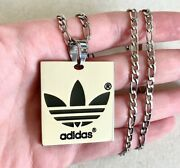 Brand New, Stainless Steel Adidas Pendant Necklace, 18 Figaro Chain