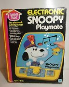 Vintage 1980 Romper Room Snoopy's Electronic Playmate Nib With Tag