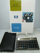 Hp 12c Financial Calculator With Sealed Instructions And Soft Case Looks New Gold