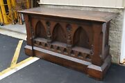 + Nice 120 Year Old Antique Ornate Gothic Wood Altar + 6and039 Wide + Chalice Co.