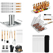 Griddle Barbecue Accessories Tool Set Outdoor Bbq Gas Grilling Cooking Basket